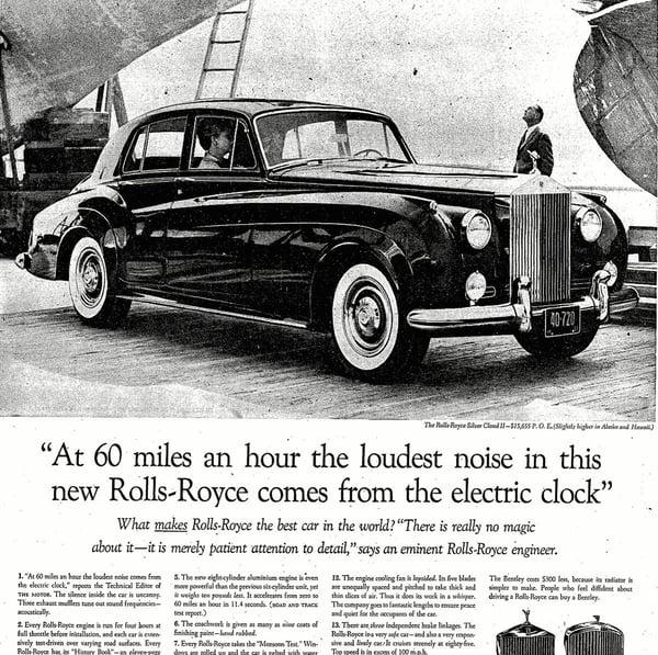 David Ogilvy Rolls Royce advertisement